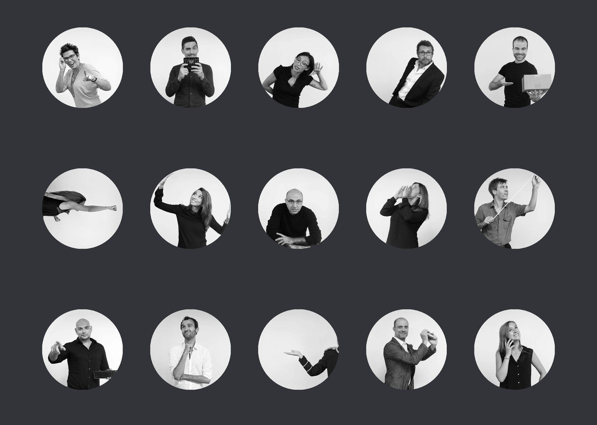 shooting et retouche photo pour page team d'une Agence de Marketing Digital