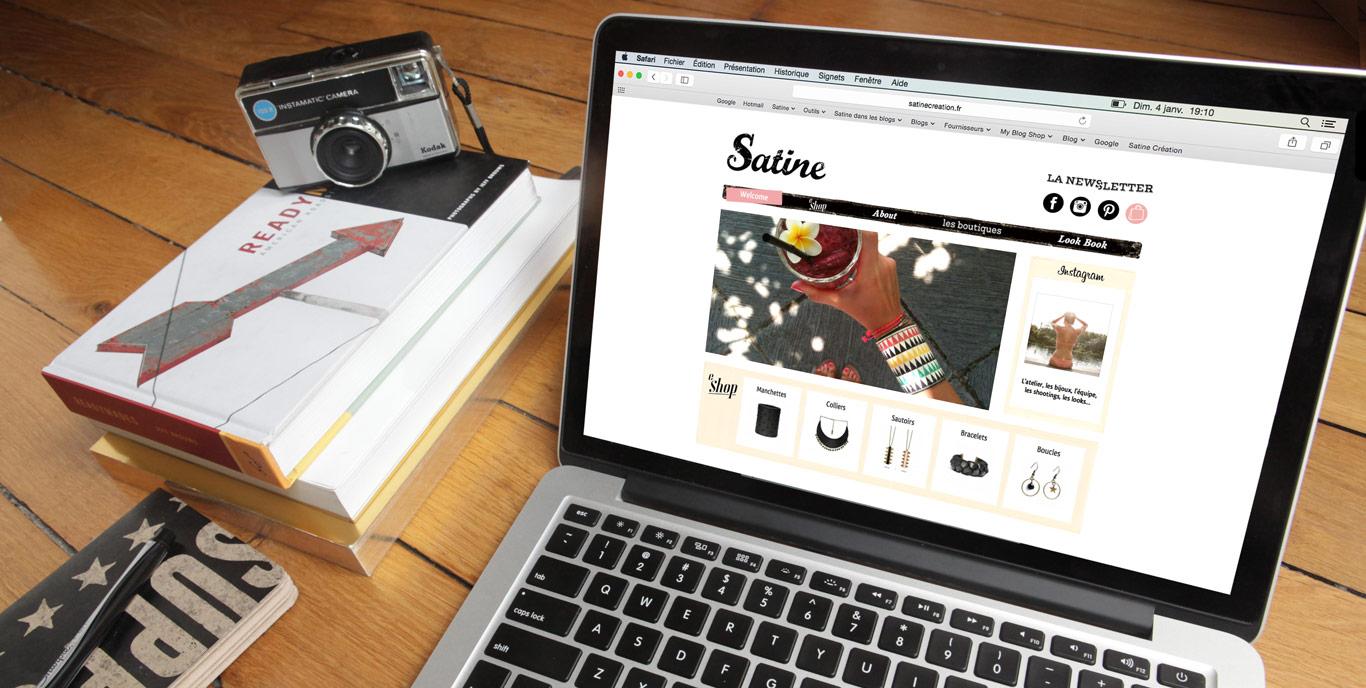 Iconink - Web Design Satine, marque de bijoux