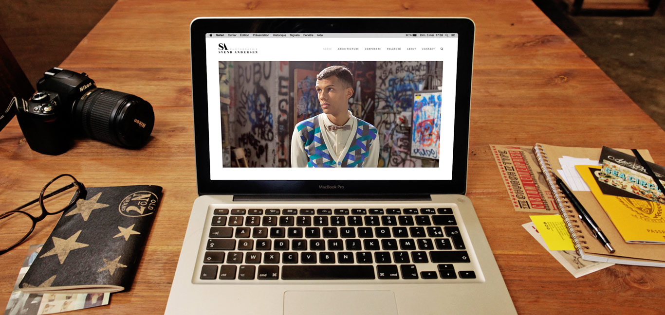 Iconink - Web Design du site du photographe Svend Andersen