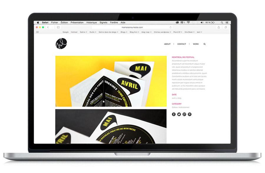 Site web - Book de la Graphiste