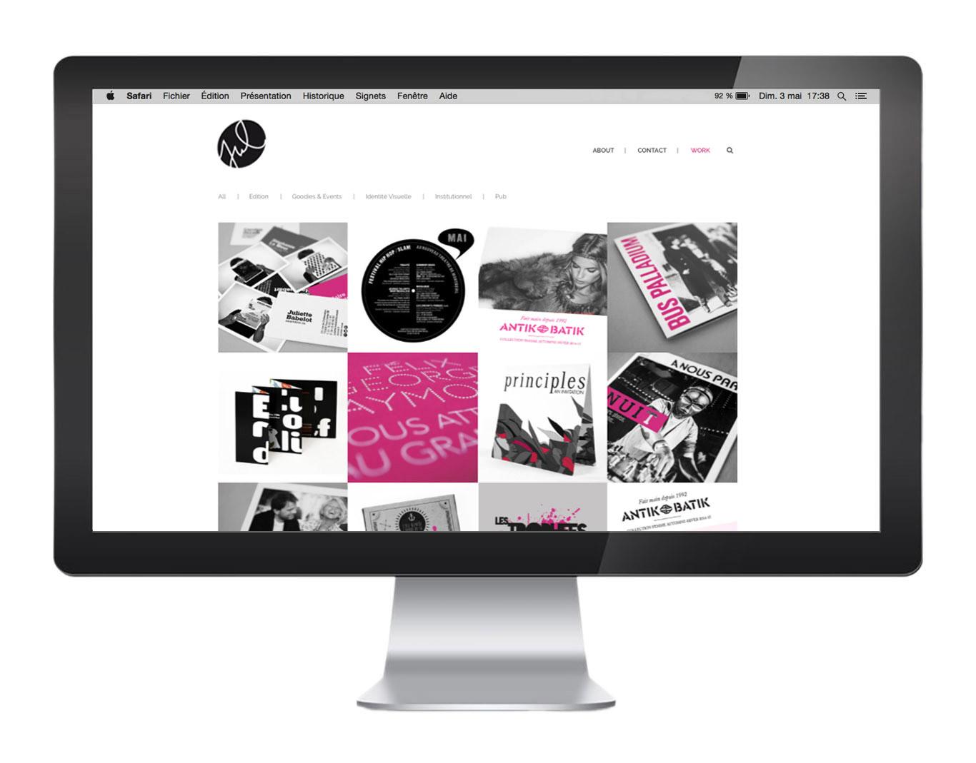 Conception Web - Juliette Babelot, graphiste