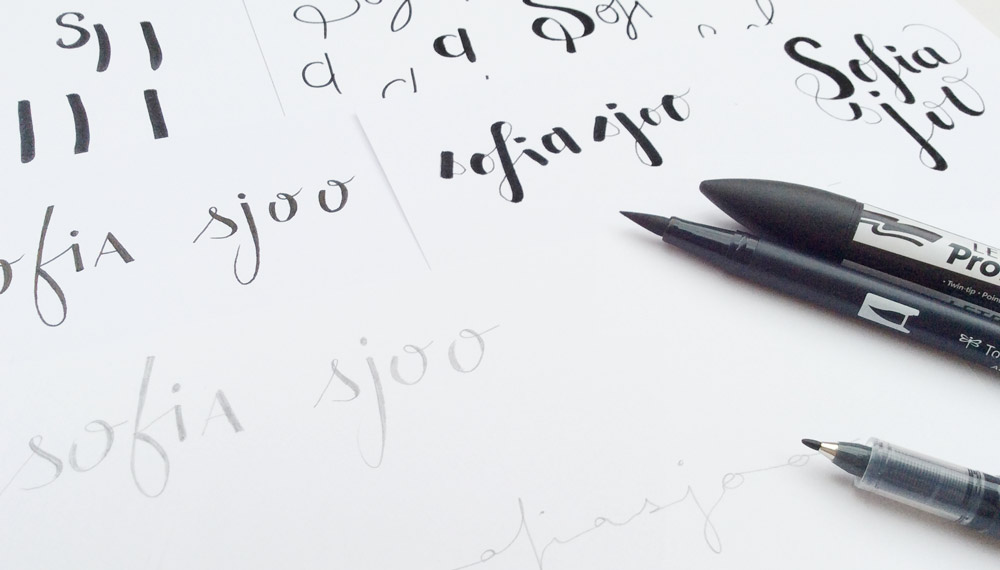 Logo Sofia Sjoo - Lettering