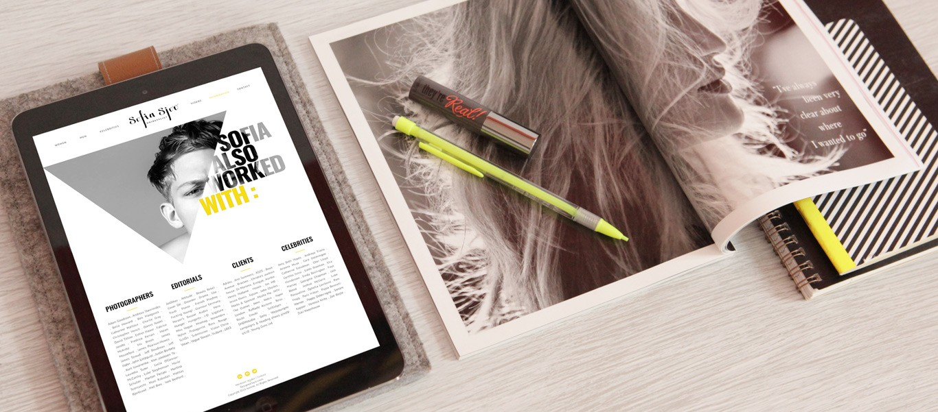 refonte site web Sofia Sjoo - Hairstylist