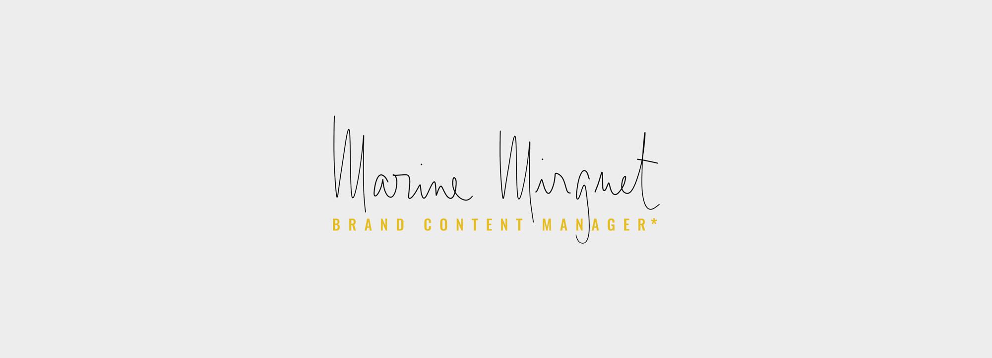 création de logo pour Brand Content Manager Freelance