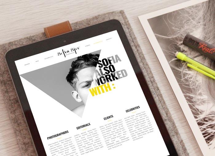 Web Design Sofia Sjöö par Iconink