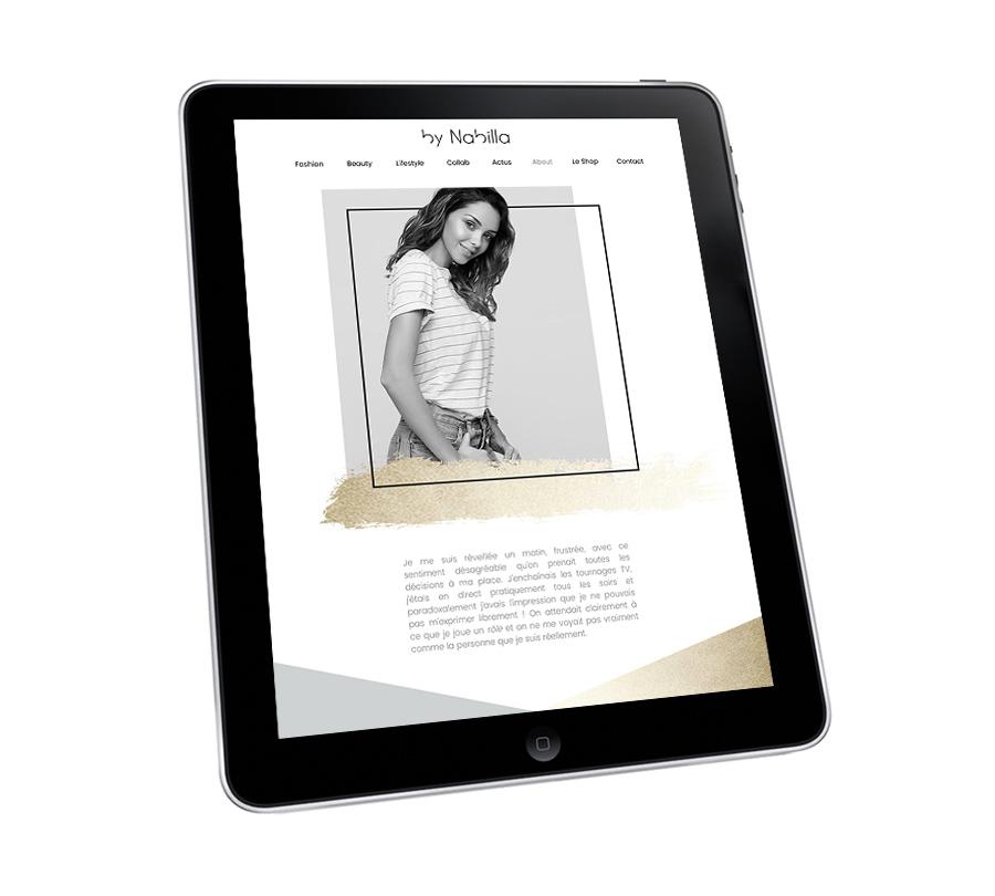 site web Nabilla Benattia