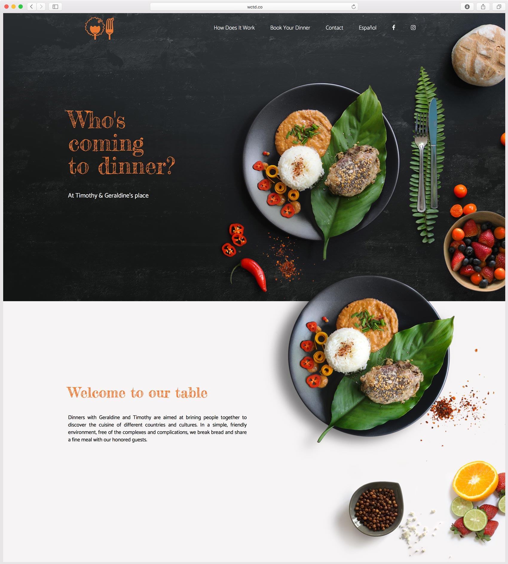 création de site web pour le restaurant WCTD