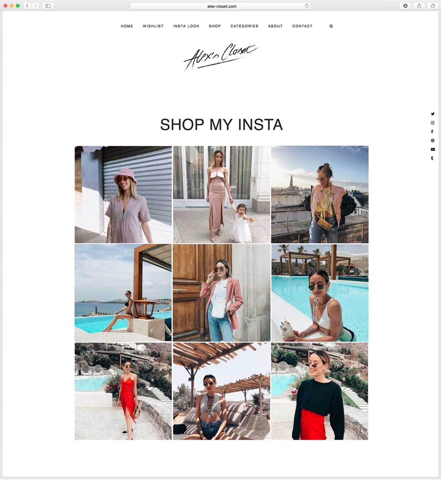 "Page ""Shop my Insta"" Alex Closet"