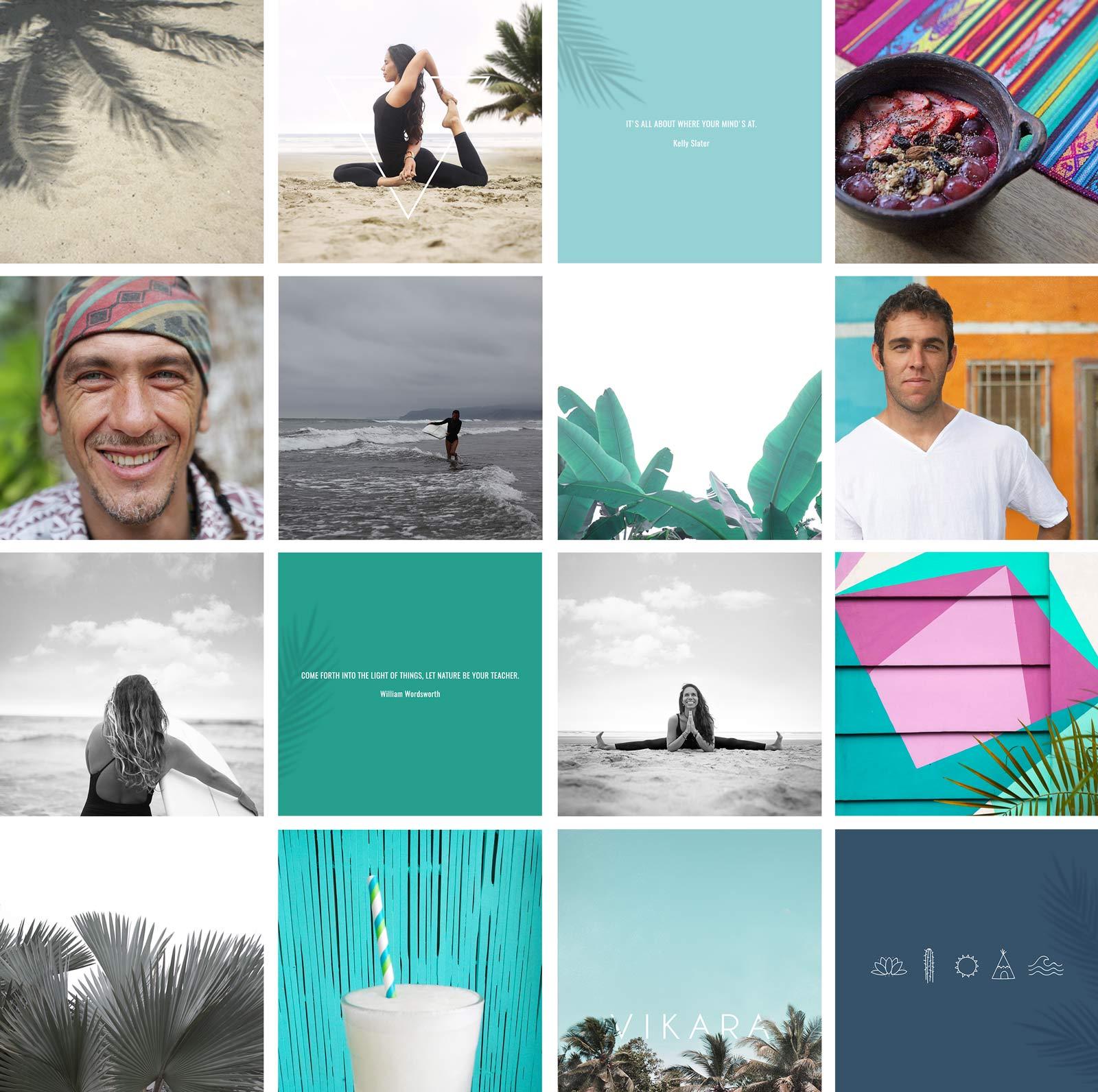 Shooting photo Vikara - Yoga & Surf