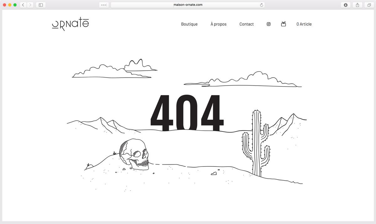 Création de Page 404 originale - Agence de Web Design