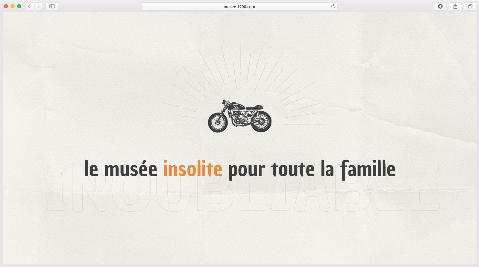 Création d'iconographie pour le Musée 1900 - Création de Site Web
